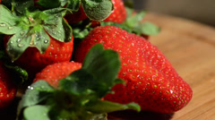 Rotating Strawberries Stock Footage
