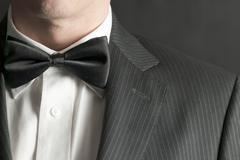Man in tux - stock photo