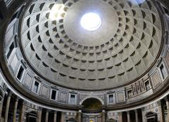 pantheon dome on rome, italy - stock photo