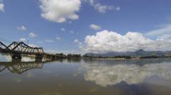 Kampot panoramic view Stock Footage