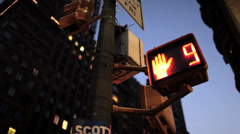 Street Crossing Sign NYC Stock Footage