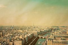 antique city view - stock photo