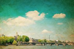 Beautiful parisian streets Stock Photos
