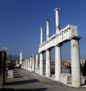 pompeii archeological ruins - stock photo