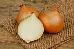 common bulb onions - stock photo