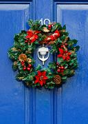 Stock Photo of festive christmas wreath