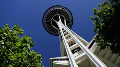 Space Needle Observatory, Seattle USA Arkistovideo
