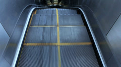 Escalator in the subway station Stock Footage