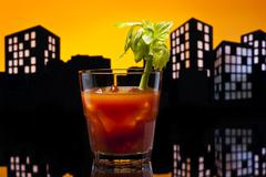 metropolis bloody mary cocktail - stock illustration