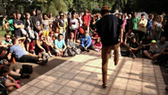 Stock Video Footage of B-Boy Breakdance Battle - Short Sequence 02