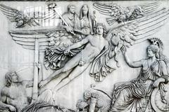 Beautiful carving details located in the vatican city Stock Photos