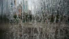 fountain riverwalk highspeed drops - stock footage