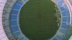 Aerial Shot of Maracana Football Stadium Stock Footage