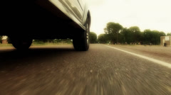 A car driving on freeway Stock Footage