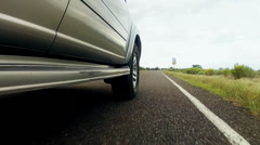 An suv driving on freeway Stock Footage