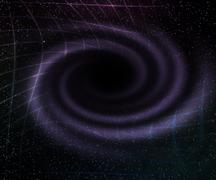 black hole in space background - stock illustration