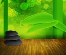 Zen stones green background Stock Illustration