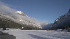 Yoho valley winter WS Stock Footage