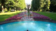 Stock Video Footage of Summer garden of Bad Pyrmont