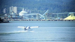 Water Airport, Vancouver Harbour, Canada Stock Footage