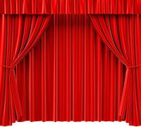 Stock Illustration of curtains