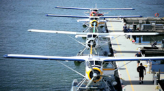 Water Airport Seaplanes cruise ship, Vancouver Stock Footage