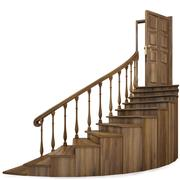 staircase - stock illustration