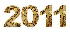 2011 coins - stock illustration
