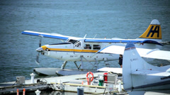 Seaplane preparing for take off, Vancouver Stock Footage
