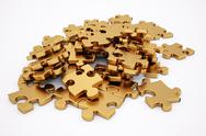 Stock Illustration of golden puzzle