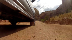 Driving on capitol reef national park road Stock Footage