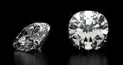 cushion cut diamond - stock illustration