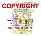 Stock Illustration of wordcloud words tags of copyright infringement
