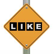 3d road sign like Stock Illustration