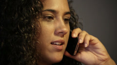 Girl talking on the smartphone Stock Footage
