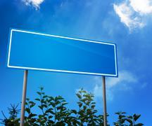 Blank road sign Stock Illustration