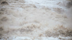 Flood water swollen river, USA - stock footage