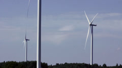 Alternative power source. Windmill Stock Footage