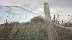String on Fencepost Stock Footage