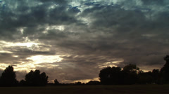 Rolling clouds timelapse Stock Footage
