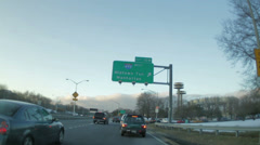 Midtown Tunnel Sign Stock Footage