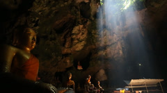Khao Luang cave temple - stock footage