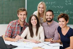 group of motivated students - stock photo