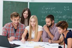 group activity in the classroom - stock photo