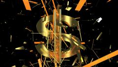 the revival of a dollar sign - stock footage