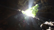 Stock Video Footage of Khao Luang cave temple in cave