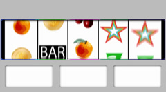 Slot machine loss Stock Footage