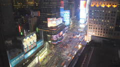 Times Square, Manhattan, New York, USA, Time lapse - stock footage