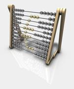 Abacus showing Euro symbol - financial concept - stock illustration