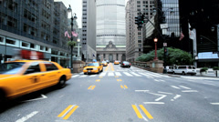 Yellow taxi cabs, New York, USA Stock Footage